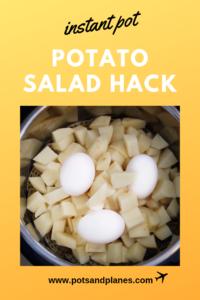 Instant Pot Potato Salad Hack - Pots + Planes